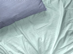 pillow and sheet