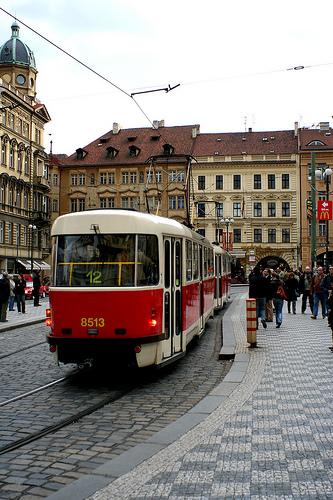 Prague street car