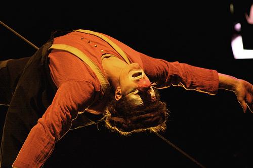trapeze clown