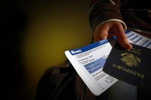 ticket and passport