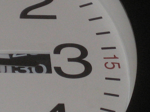 clock with 3