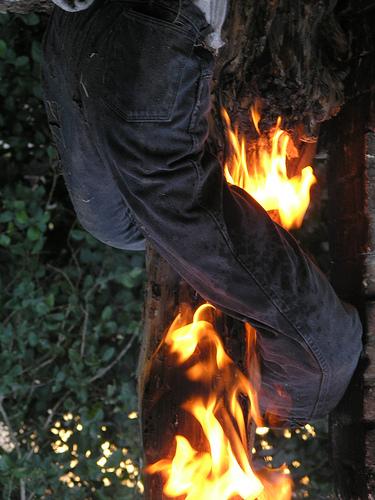 He has my pants on fire