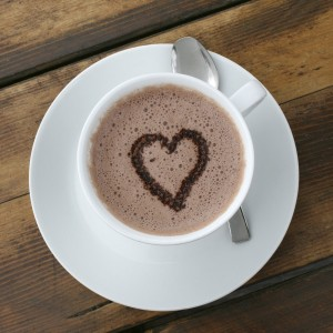 hot chocolate heart