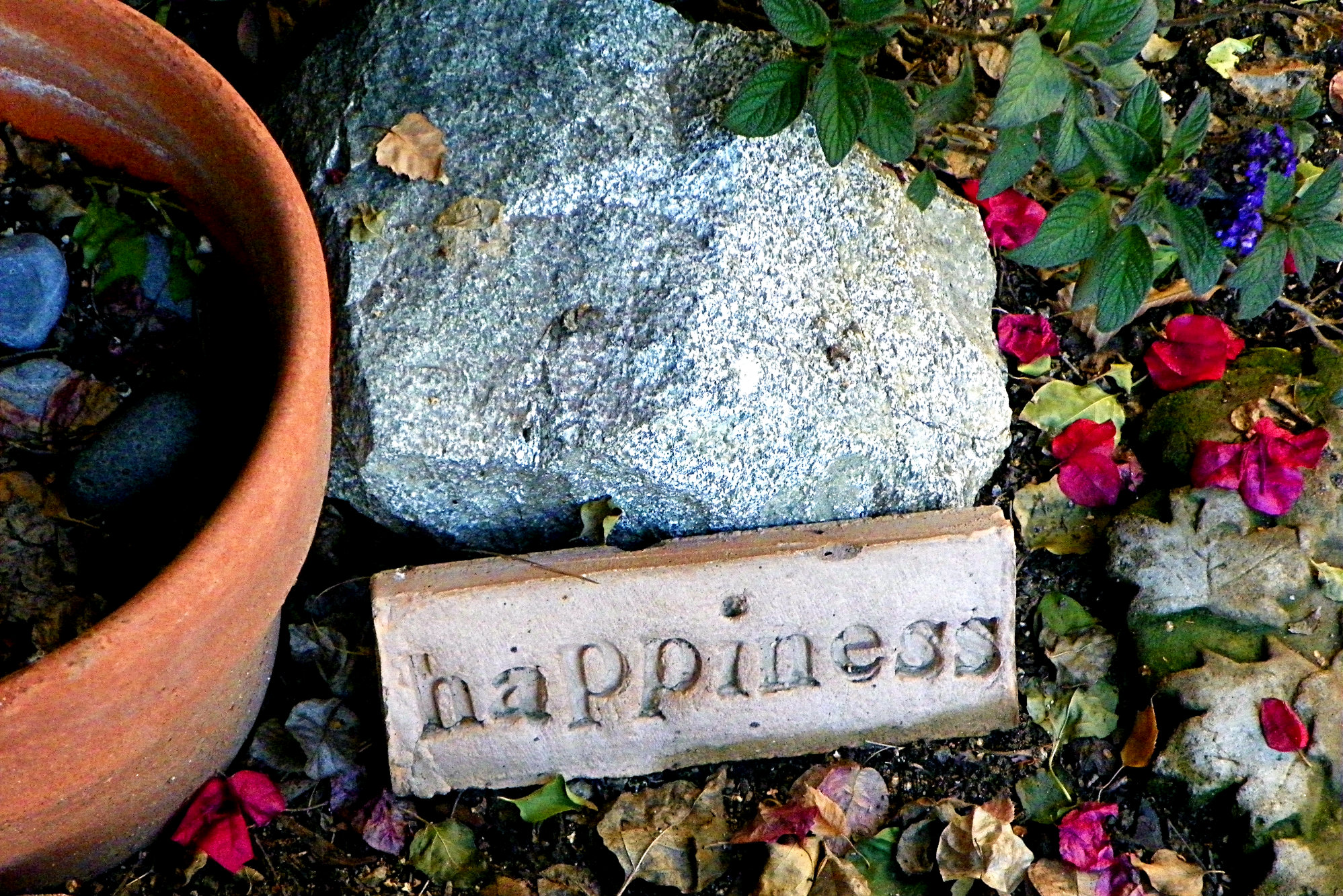 happiness garden marker