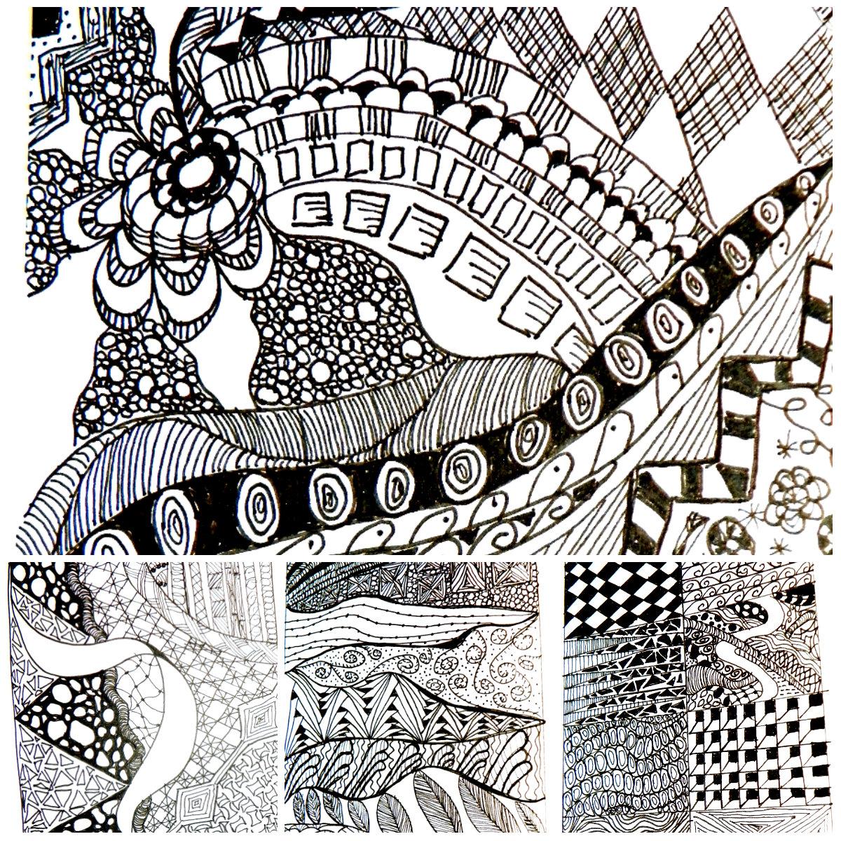 zen doodle collage